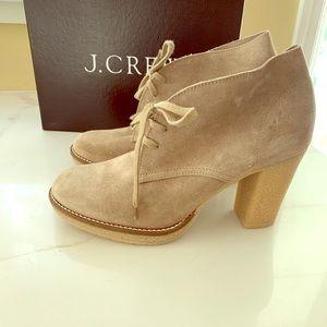 J Crew High heel suede boots size 10